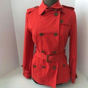 NWOT Jones New York Belted Short Trench Coat SizeS